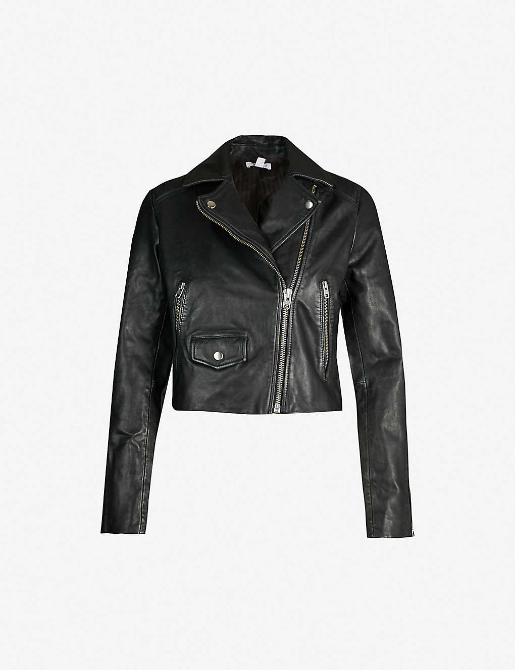 9136d20ae43a TOPSHOP - Tammy cropped leather jacket | Selfridges.com