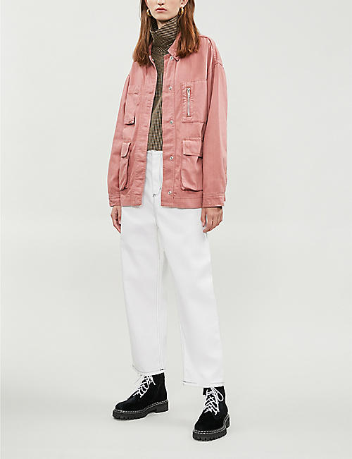 TOPSHOP Freya denim shirt-jacket