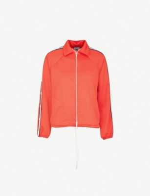 TOPSHOP Contrasting-stripe tracksuit top