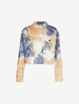 TOPSHOP Tie-dyed denim jacket