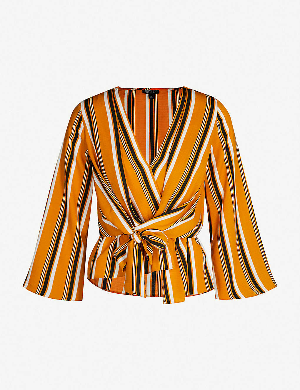 2d0ca42ae60b TOPSHOP - Tiffany striped crepe top | Selfridges.com