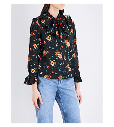 c2d420a2092 TOPSHOP - Floral-print crepe shirt | Selfridges.com