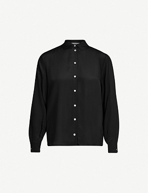 TOPSHOP Button-down silk shirt