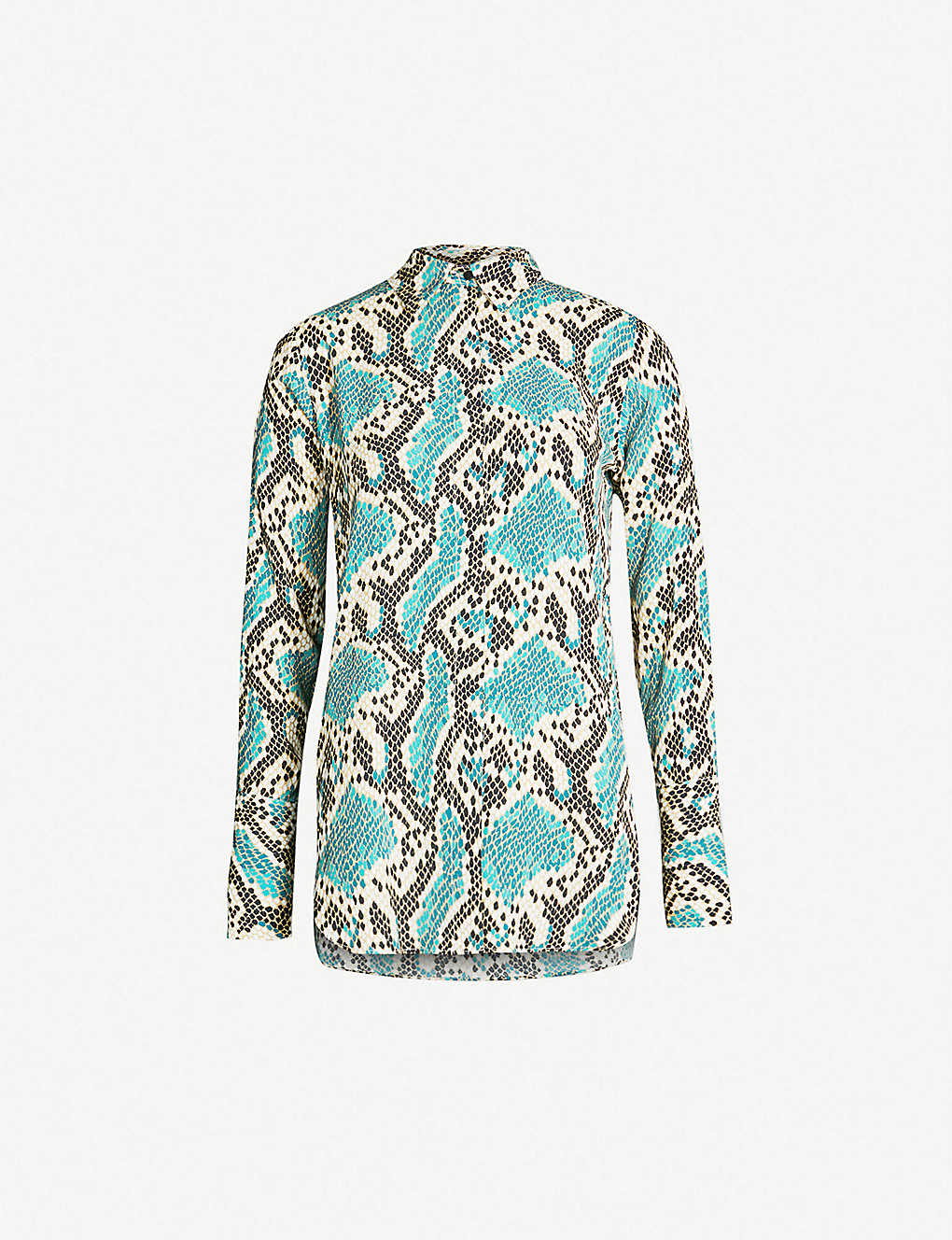 b4232d77d10e TOPSHOP - Mensy Python-print crepe shirt   Selfridges.com