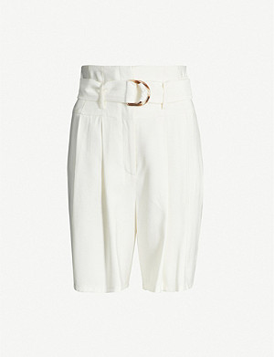 TOPSHOP Belted woven shorts