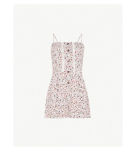 b0ae1a39f1ac TOPSHOP - Ditsy floral-print crepe playsuit