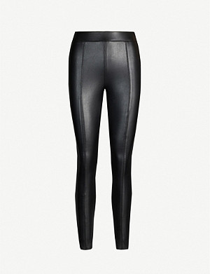 TOPSHOP Piper high-rise faux-leather leggings