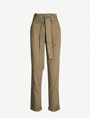 TOPSHOP Rory belted high-rise woven trousers