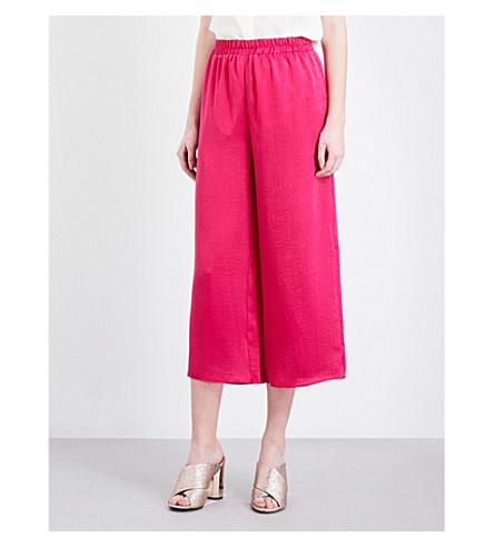 7c9e728855a0 TOPSHOP - Pull-on wide-leg satin trousers | Selfridges.com