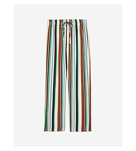 d009a501cce8 TOPSHOP - Striped wide-leg woven trousers