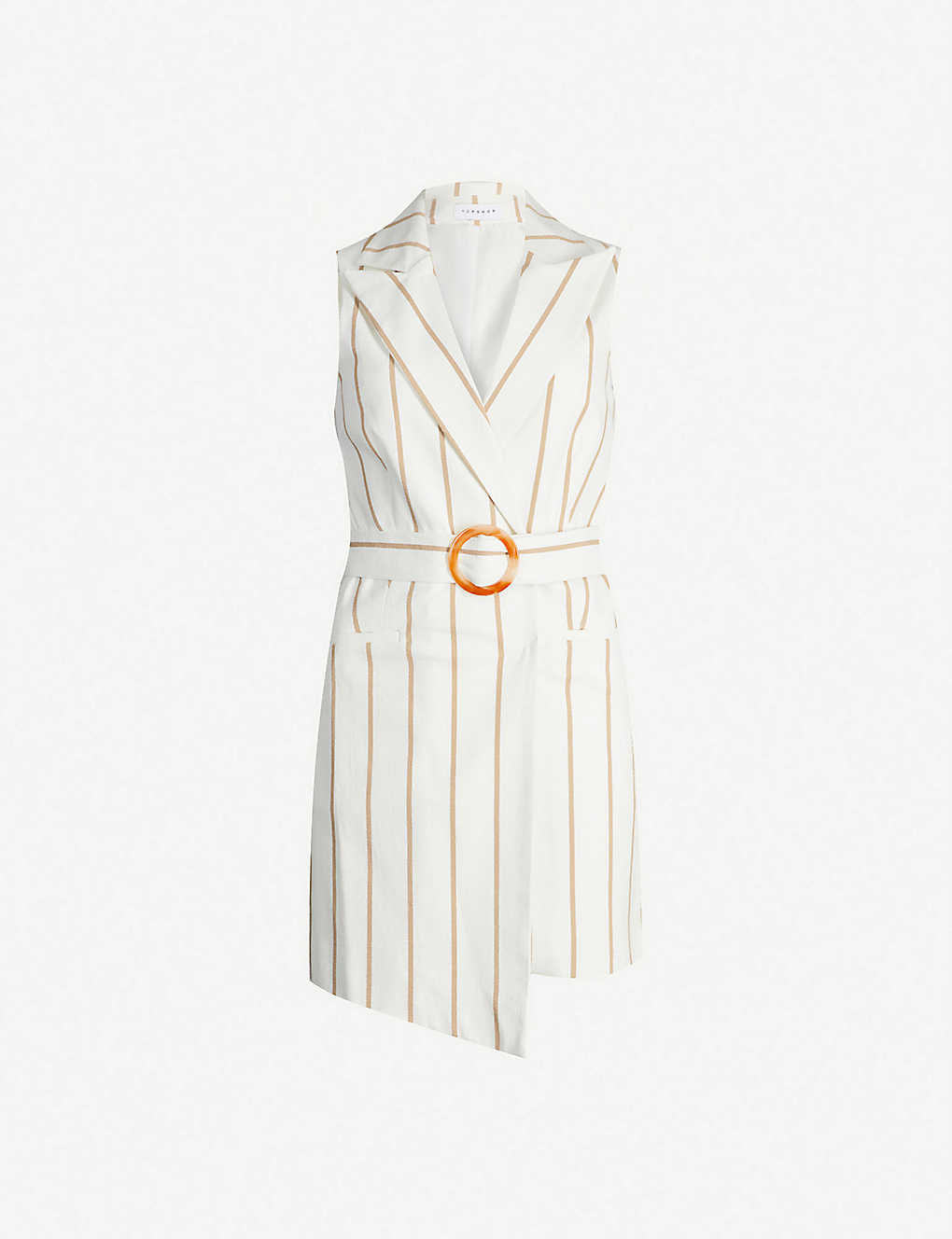 cd1028df80e0 TOPSHOP - Belted striped stretch-cotton mini dress | Selfridges.com