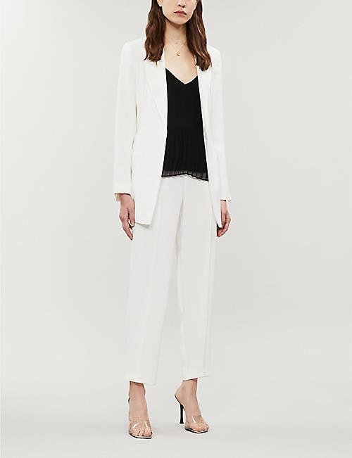c337e6e41f7 TOPSHOP Belted woven blazer · Quick Shop