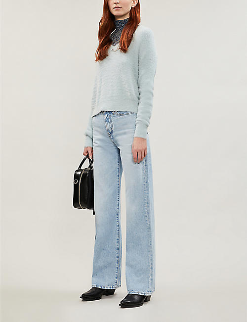 TOPSHOP Cropped fluffy jumper