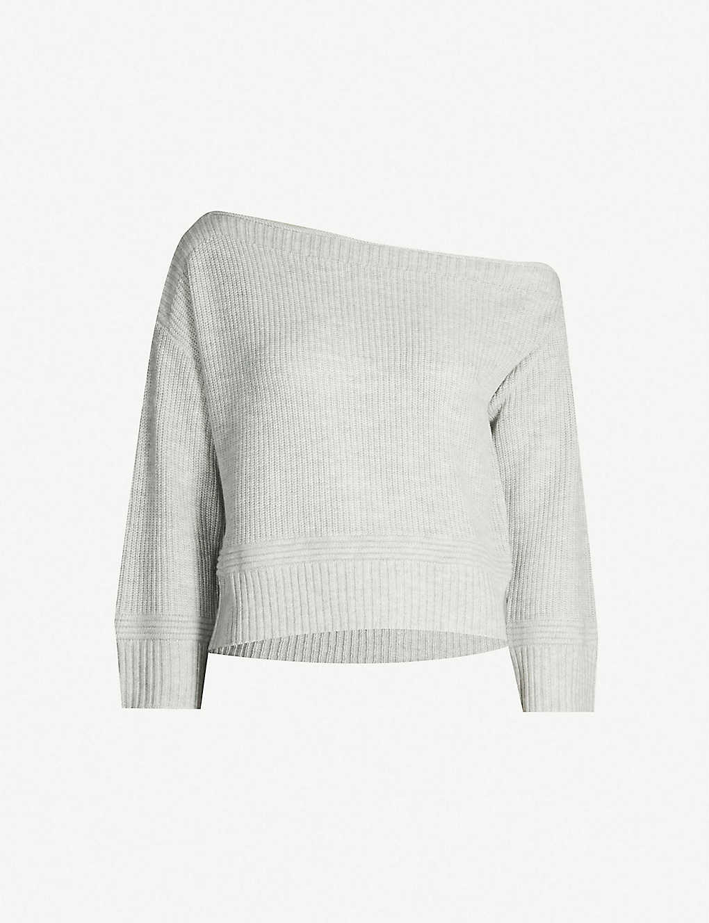 5368e9efba2 TOPSHOP - Off-the-shoulder cropped knitted jumper | Selfridges.com