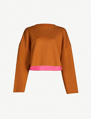 TOPSHOP Boxy stretch-knit jumper