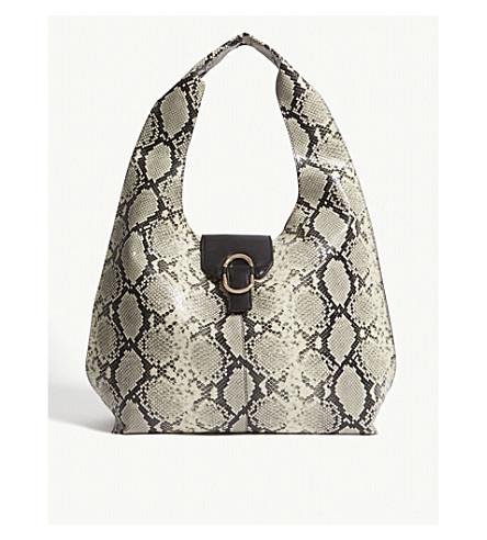 c12ec822a450 TOPSHOP - Faux-snakeskin leather hobo bag