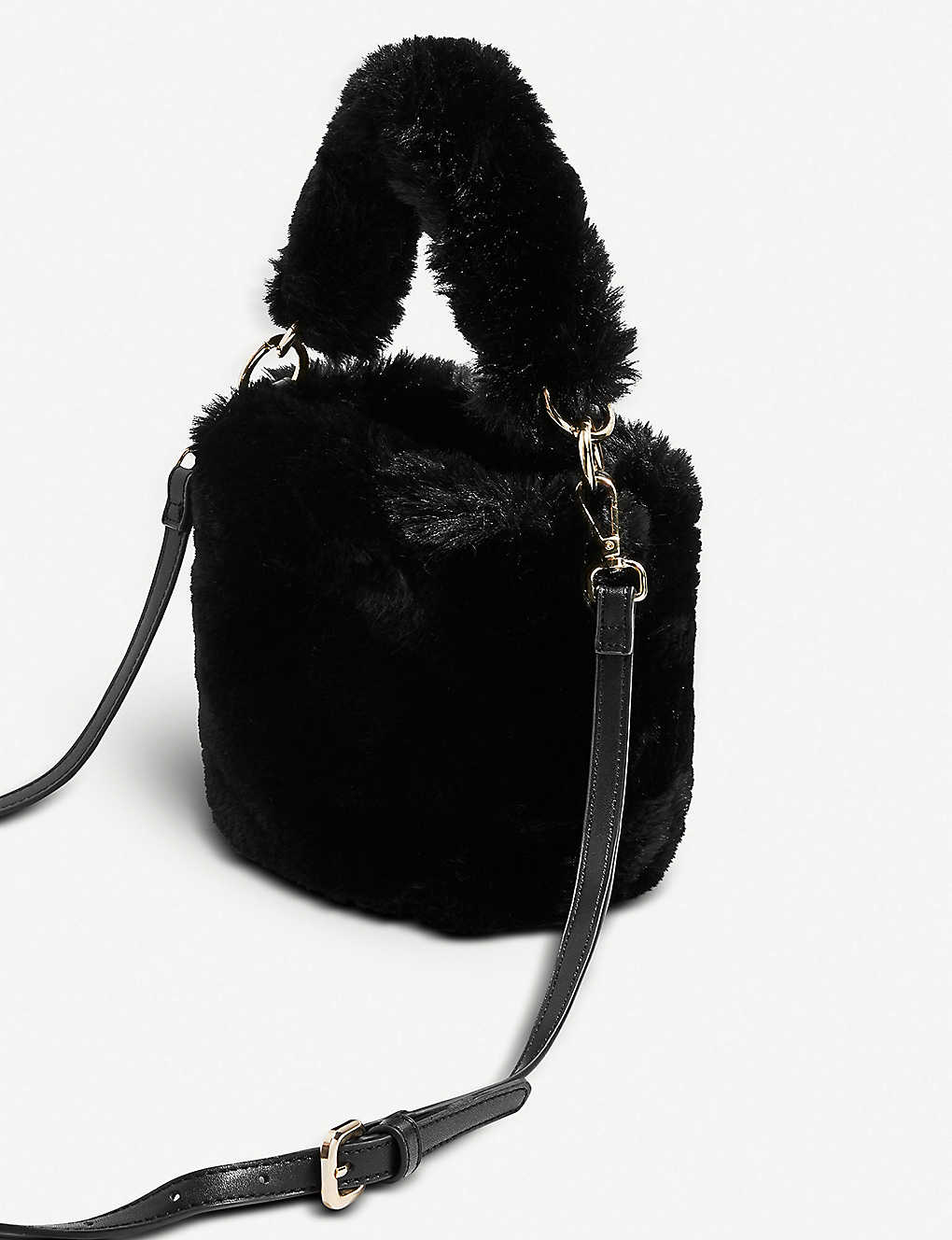 aa5b24cb686f TOPSHOP - Teddy fur bucket bag | Selfridges.com