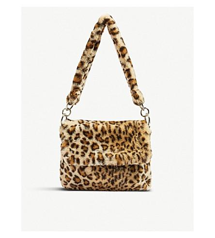221c167668a8 TOPSHOP - Leopard-print teddy fur shoulder bag