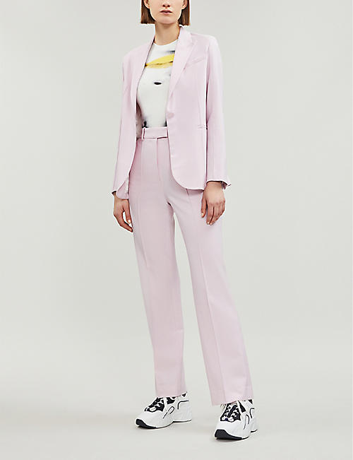 TOPSHOP Boutique exposed-seam single-breasted wool-blend blazer