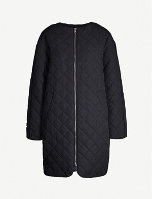 TOPSHOP Boutique quilted padded cotton-blend jacket