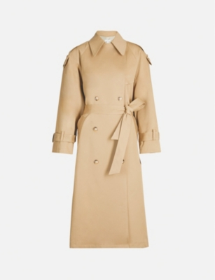 TOPSHOP Boutique double-breasted cotton-twill trench coat