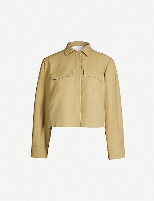 fc729c99269 TOPSHOP Boutique slouchy-sleeve crepe jacket