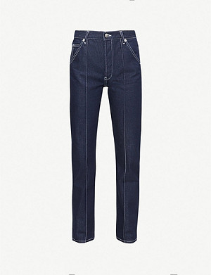 TOPSHOP Boutique Essential exposed-seam high-rise cropped jeans