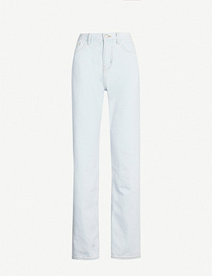 TOPSHOP Boutique faded straight high-rise jeans