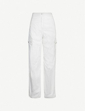 TOPSHOP Boutique high-rise utility jeans