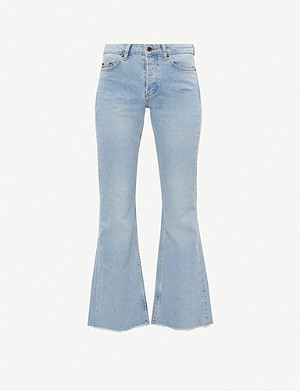 TOPSHOP Flared mid-rise jeans