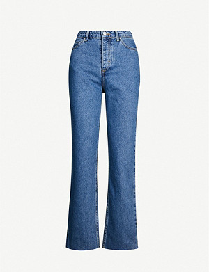 TOPSHOP Boutique Slimmy straight high-rise jeans