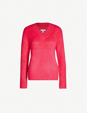 TOPSHOP Boutique V-neck knitted jumper