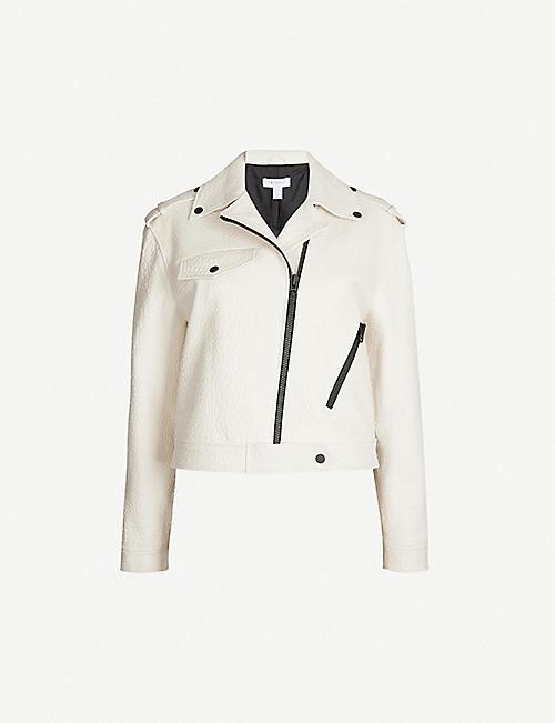 2d88a9d6e5eca TOPSHOP Ultimate asymmetric leather biker jacket