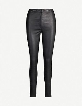 TOPSHOP: Boutique skinny leather trousers