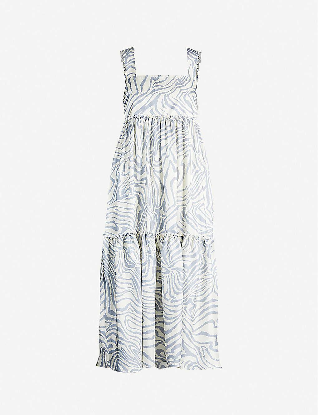 42cb624bd0dd TOPSHOP - Boutique zebra-print sleeveless silk midi dress ...