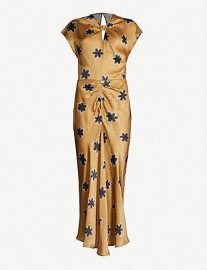 TOPSHOP Boutique floral-print crepe maxi dress