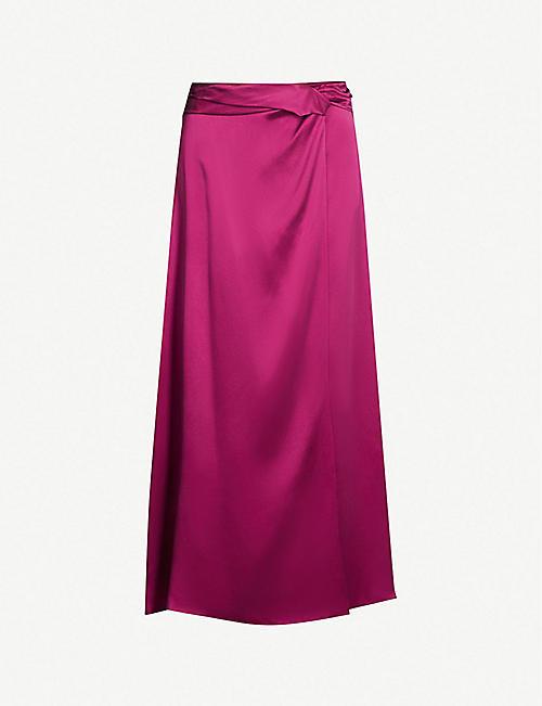 34c7809ca760b TOPSHOP - Boutique high-rise silk midi skirt