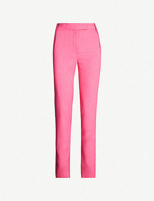 TOPSHOP Boutique high-rise skinny crepe trousers