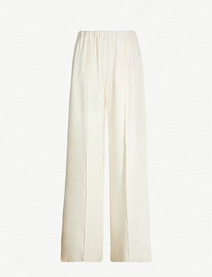 TOPSHOP High-rise woven wide-leg trousers
