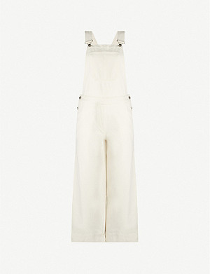 TOPSHOP Boutique denim wide-leg dungarees