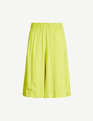 TOPSHOP Boutique Bermuda wide high-rise satin shorts