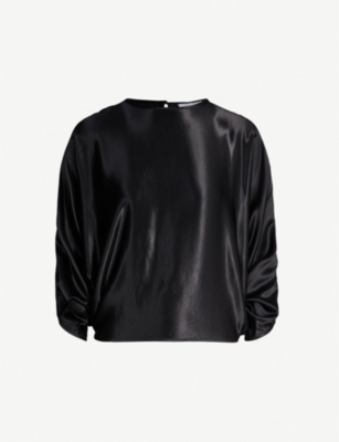 TOPSHOP Boutique batwing satin top