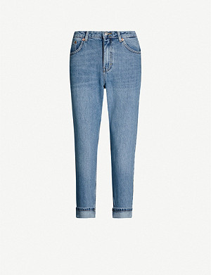 TOPSHOP Mom tapered relaxed-fit high-rise jeans
