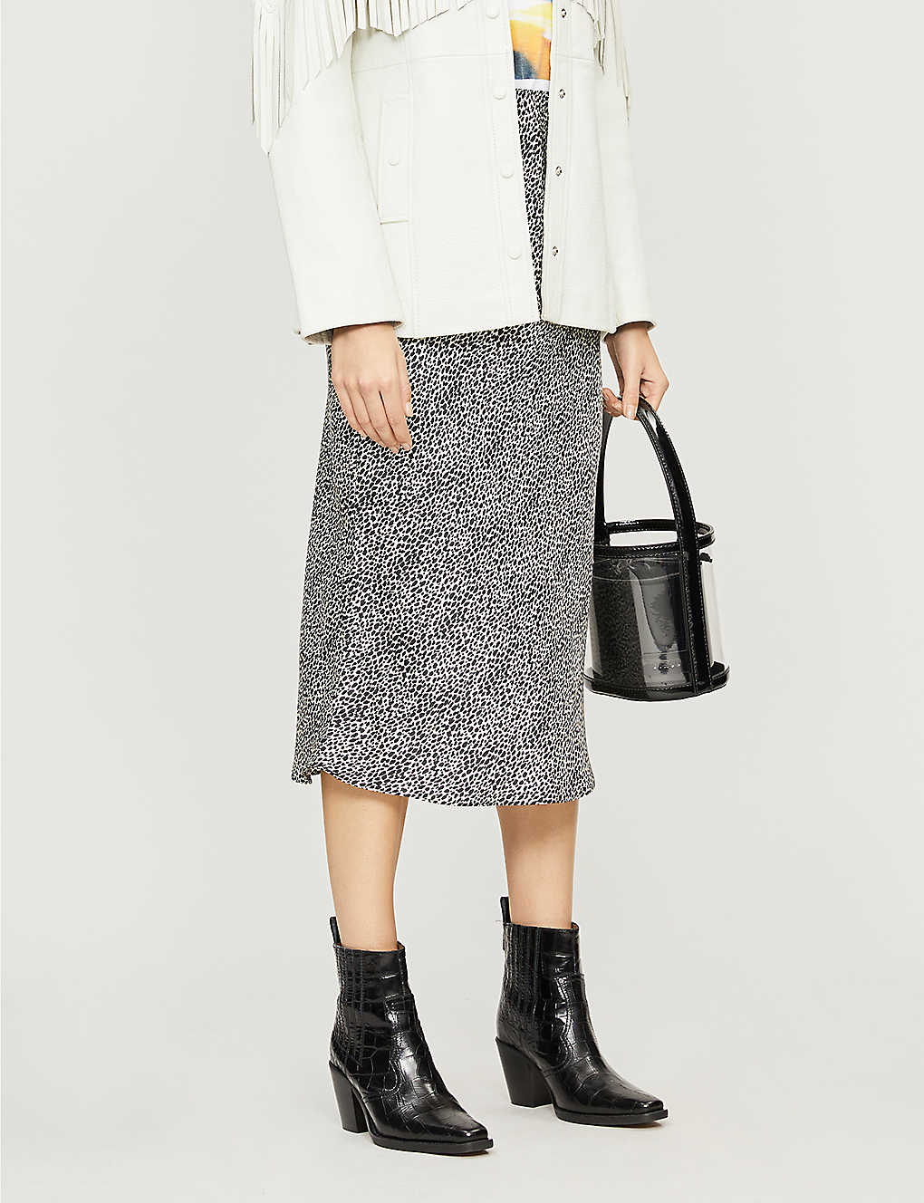 ba0df483f TOPSHOP - Petite animal-print bias-cut satin skirt | Selfridges.com