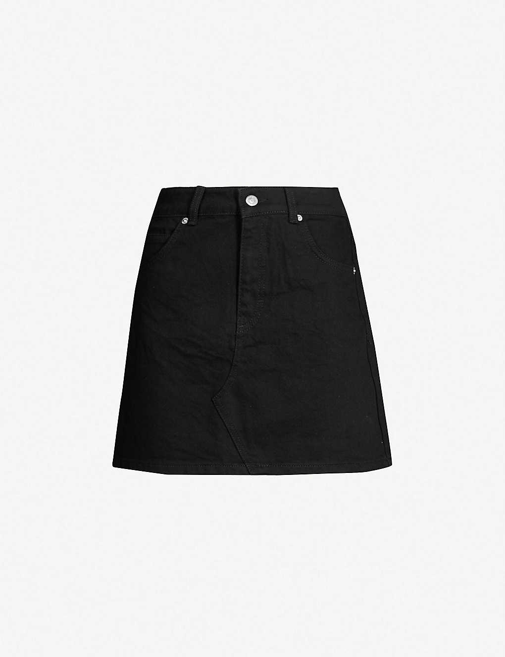 3305bbb0de TOPSHOP - Petite high-rise denim skirt | Selfridges.com