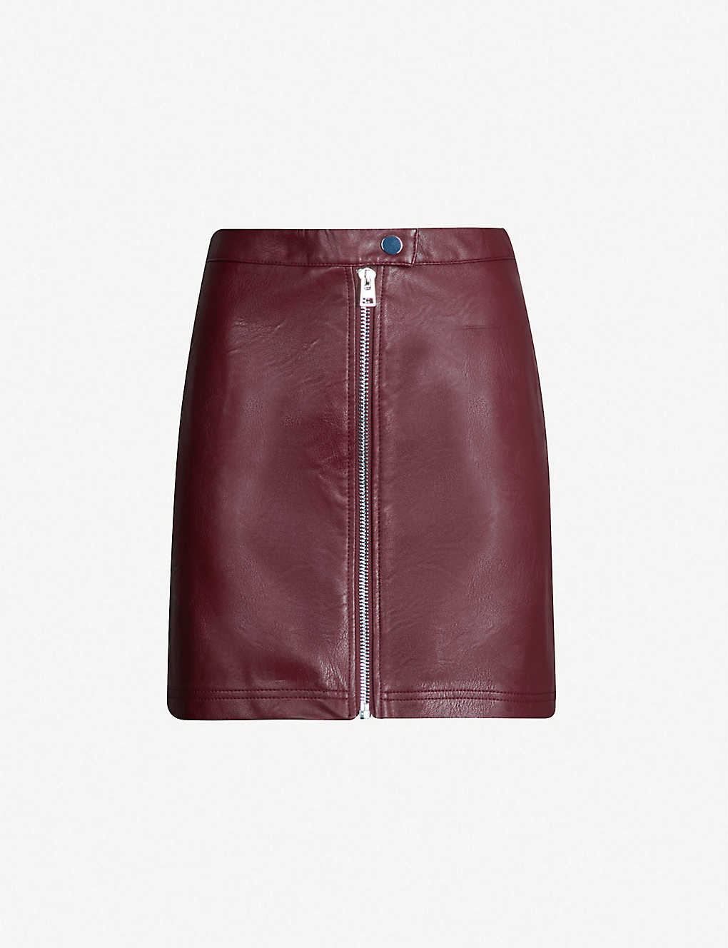 81eb2598ec70 TOPSHOP - Penelope zipped-front faux-leather mini skirt | Selfridges.com