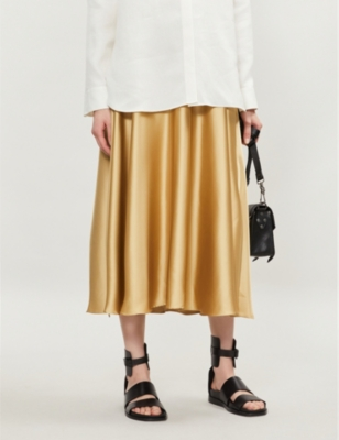 9decff934 TOPSHOP - Full circle satin midi skirt | Selfridges.comm