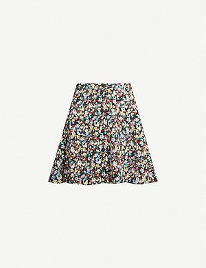 63819bd7ac TOPSHOP - Ditsy button-front floral crepe mini skirt | Selfridges.com