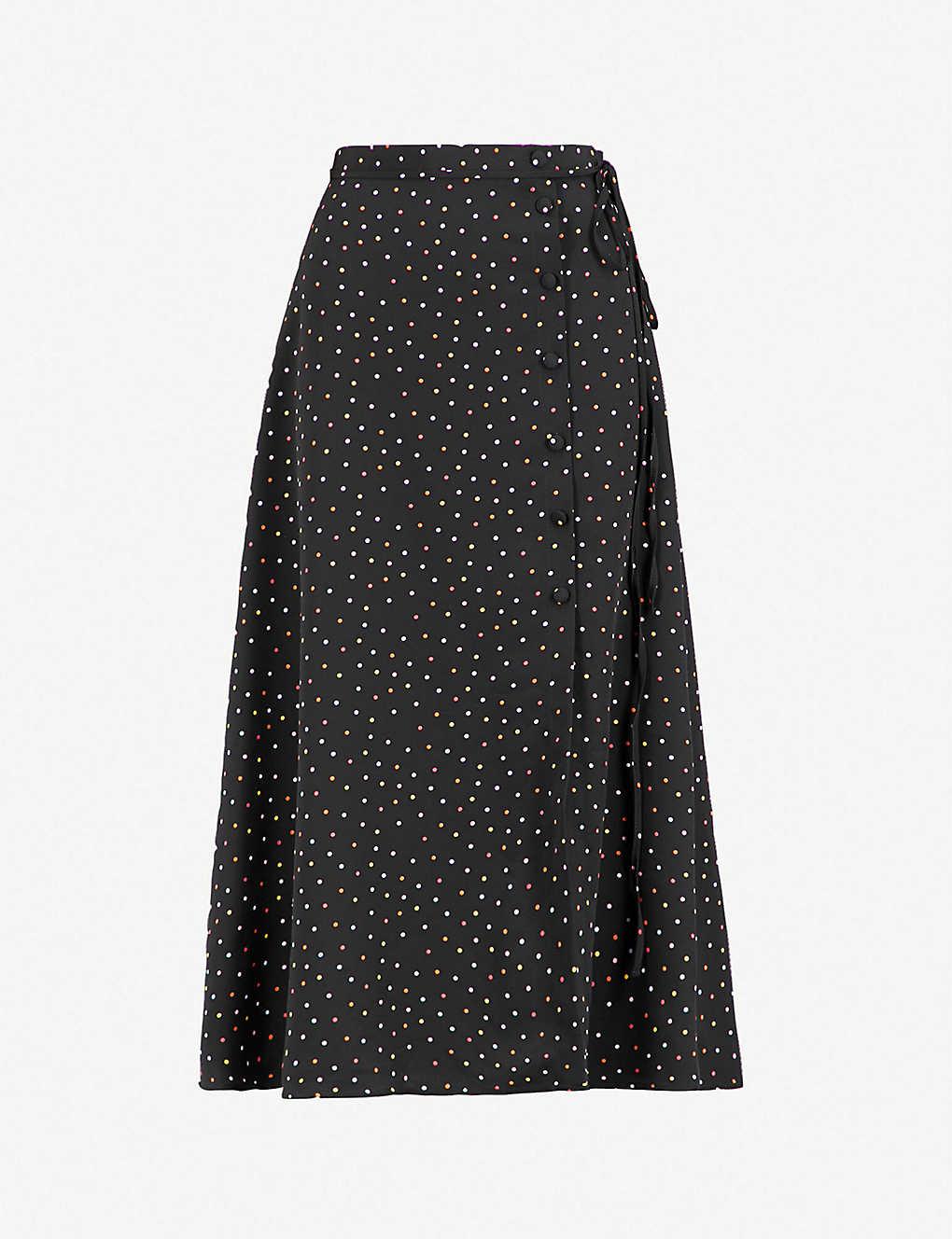 f7fdf39e18 TOPSHOP - Polka dot crepe skirt | Selfridges.com