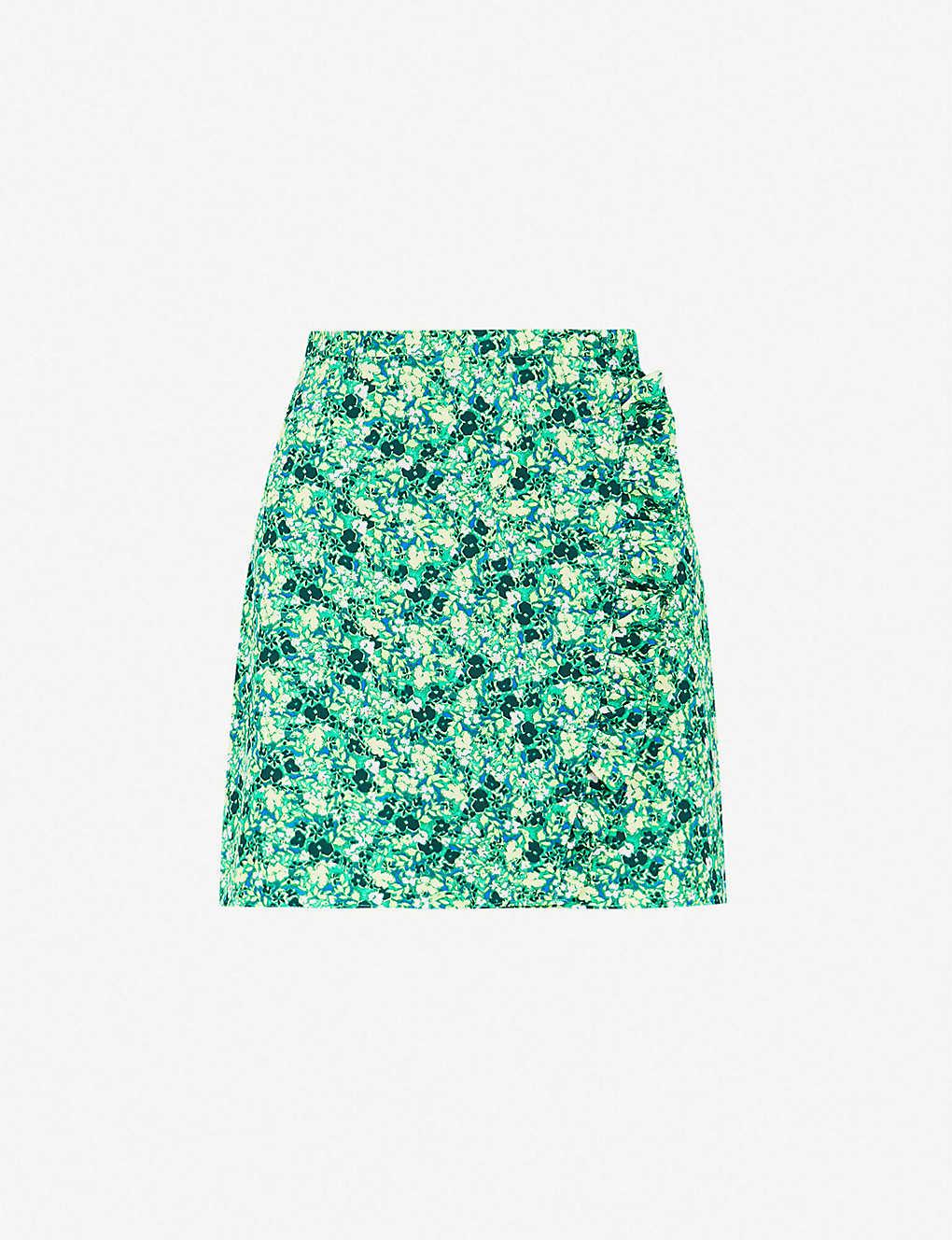 00bf139f5828 TOPSHOP - Ruffled floral-print crepe mini skirt   Selfridges.com